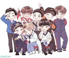 baekhyun, chanyeol, chen, cute, d.o, exo, fanart, kai, sehun, suho, unfair, xiumin