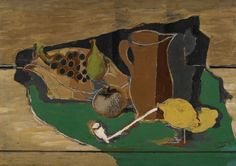 Georges Braque : Fruits, cruche et pipe - 1924: