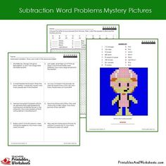 Grade 2 Subtraction Word Problems Coloring Worksheets Sample 1 2nd Grade Math Worksheets, Math Magic, Coloring Worksheets, World Problems, Color Activities, Addition And Subtraction, Grade 2, Motivate Yourself, Mystery