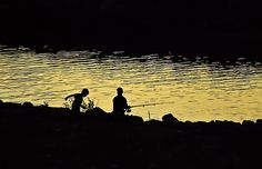 Evening fishing at the river