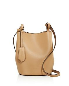 Burberry Lorne Small Leather Bucket Bag
