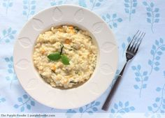 Put your yellow and white sweet corn to good use in this Double Corn and Mint Risotto from Purple Foodie!