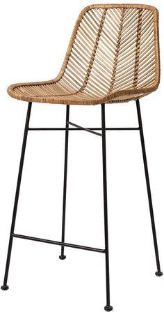 Chaise Haute Bar, Chaise Bar, Rattan, Wicker, Bar Chairs, Bar Stools, The Cool Republic, Indus, Studio Green