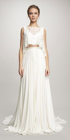 Breaking The Rules - Bridal Separates ❤ See more: http://www.weddingforward.com/breaking-the-rules-bridal-separates/ #weddings #dress
