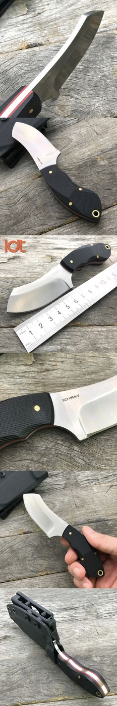 LDT Razor Fixed Blade Knife Steel Handle 7Cr18Mov Blade Camping Tactical Military Knives Hunting Survival Pocket Knife EDC Tools