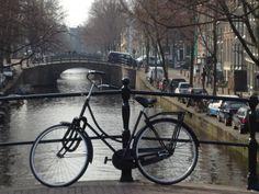 Bike on a bridge in gorgeous Amsterdam Thalys Train, Train Journey, Cologne, Amsterdam, Bridge, Faces, Colorful, Bridges, Bro
