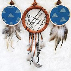 Boho accents for anywhere in your home // Dreamcatchers No. 1 and No. 7 from Bast + Bruin