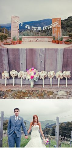 I might have to steal all of these ideas from this incredibly-crafted, gorgeous, mountain wedding. The rustic doors with the hanging letters are the icing on the cake!