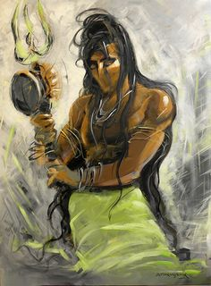Buy Shiva 2 artwork number a famous painting by an Indian Artist R. Indian Art Ideas offer contemporary and modern art at reasonable price. Rudra Shiva, Shiva Shakti, Shiva Art, Hindu Art, Ganesha Art, Lord Shiva Sketch, Shiva Tattoo, Lord Mahadev, Lord Shiva Family