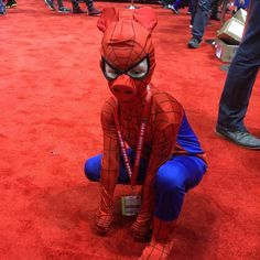 Spider-Ham is holdin' it down here at #c2e2 in Chicago! #cosplay #marvel #spiderham #spiderman