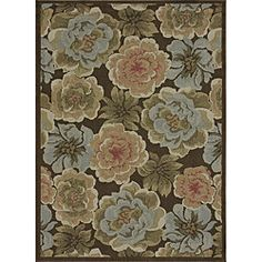 @Overstock - This Roma rug features durable polypropylene construction and a 0.2-inch pile. This brown rug features a floral pattern with accents of blue, green, rust, ivory and gold. http://www.overstock.com/Home-Garden/Roma-Brown-Indoor-Outdoor-Rug-75-x-105/5151708/product.html?CID=214117 $144.49