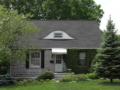 """Valley Roofing installed this roof featuring GAF Timberline shingles in """"Charcoal"""" coloring."""