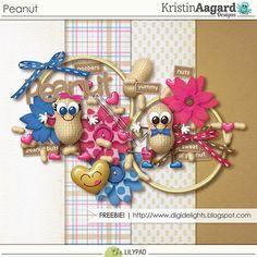 Quality DigiScrap Freebies: Peanut mini kit freebie from Kristin Aagard Designs