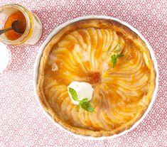 Linecký koláč s hruškami a marcipánem Pie, Fresh, Desserts, Recipes, Torte, Tailgate Desserts, Cake, Deserts, Fruit Flan