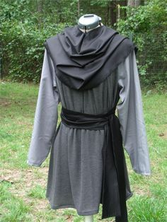 Renaissance Men's Tunic - LARP SCA lg/xlg Greys
