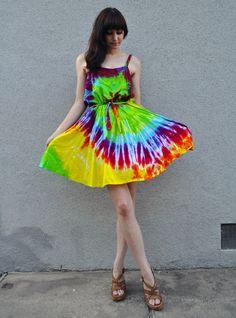 UNIF Tie Dye Dress | Fashion: Rainbow | Pinterest | Tie dye dress ...