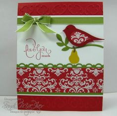 A PARTRIDGE IN A PEAR TREE by SandiMac - Cards and Paper Crafts at Splitcoaststampers