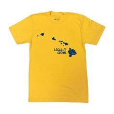 1002a7c08 Hawaii Solid State locally grown screen printed cotton tshirt #LOCALLYGROWN  #SHOPLOCAL Clothing Co,