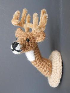 Deer Head Mount häkeln von JRPcrochet auf Etsy
