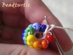 More Bead Rope Crochet.  Helpful hints and reproduction of 1924 book instructions for technique. Using size 8 beads, different colors, six around is a good way to learn. #seed #bead #tutorial #crochet