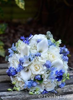 35 something blue bridal bouquets white roses hydrangea and compact wedding flowers blog colours blue white mightylinksfo Choice Image