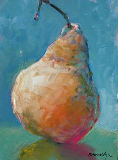 Painting of a pear for our restaurant, to remind costumers to eat healthy!
