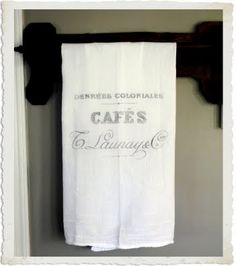 DIY: 5 Minute French Cafe Towel - Printable Transfer Project