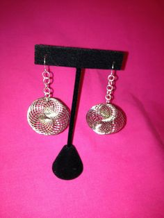 wire wrapped silver earrings by SassyGirlJewelrycom on Etsy, $25.00