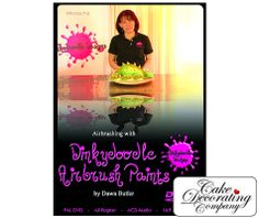 Dawn Butlers second DVD to show you how to get the most from your Dinkdoodle Airbrush and now how to spray onto chocolate as well as cake and sugarpaste