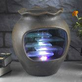 Found it at Wayfair - Harmonia Pot Tabletop Fountain With LED Light
