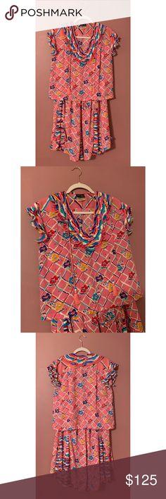 Spotted while shopping on Poshmark: Vintage Diane Freis Pink Two Piece Set! #poshmark #fashion #shopping #style #diane fres #Dresses & Skirts