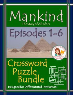 Tons of fun materials to go with the first 6 episodes of Mankind the Story of All of Us! Includes basic & advanced puzzles for every episode, word bank options for differentiation, and brainstorming/memory worksheets, plus complete answer keys! NO PREP -- JUST PRINT AND GO! #mankindthestoryofallofus #historypuzzles #historychannel #worldhistory #ancienthistory #middleages #athens #israel #rome #christianity #islam #chinesehistory #europeanhistory #mongols #plague #ironage #inventions