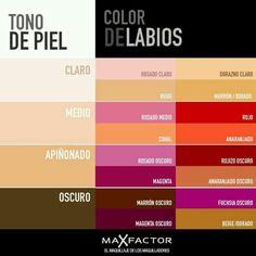 Color de labios según tu tipo de piel.