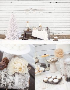 Outdoor Whimsical Winter Wedding Inspiration