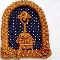 Pot Holders, Bakery, Christmas, Handmade, Crafts, Pointillism, Xmas, Hand Made, Manualidades