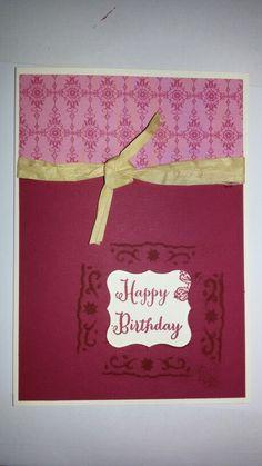"""Geburtstagskarte mit """"Guckloch"""" und bestempelter Innenseite, Kartenmaß: 10,5 * 15 cm"""