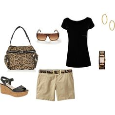 """Black with Leopard print"" by heather767 on Polyvore"