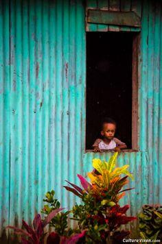 Visiting a Fijian village.
