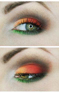 jesienny makijaż , makijaz dzienny