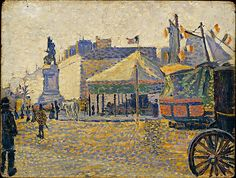 Place de Clichy Paul Signac (French, Paris 1863–1935 Paris) Date: 1888 Medium: Oil on wood