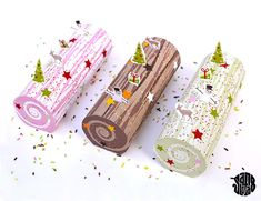 Christmas Log Decoration Papercraft Free Template Download - http://www.papercraftsquare.com/christmas-log-decoration-papercraft-free-template-download.html#Christmas, #ChristmasLog, #Decoration, #Log