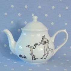 wolf, hare and hedgehog teapot