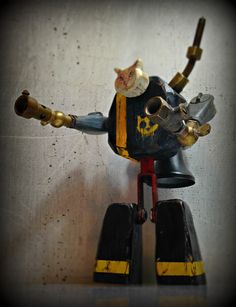S.A.C. 1.0 (Robocat) © Found Object and Reclaimed Wood Sculpture by Assemblage Artist Jay Lana