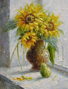 ORIGINAL Oil Painting Les Tournesols 23 x 30 Colorful by decorpro, via Etsy.
