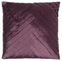 Purple chevron pintuck satin cushion on shopstyle.co.uk