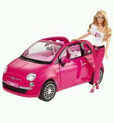 Mattel Barbie Fiat Auto Cabrio pink mit Puppe Neu OVP