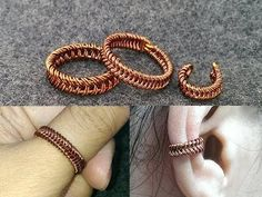 unisex ring and earcuff - Wire Wrapping Ideas 269