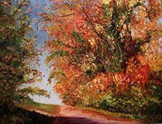 Autumn Stroll in Wallerfangen by Heidi Mansion Oil ~ 14 x 18