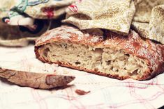 crusty bread with rosemary + corn soup. by Sandra Beijer, via Flickr