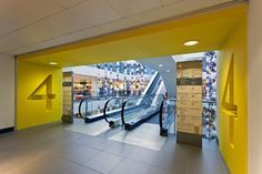 Great entrance. Bold, strong color. John Lewis Kids flagship store
